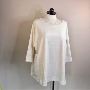 H by Halston Oversized Dolman Sleeve Sweatshirt 1X